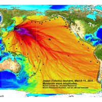 Japan (Tohoku) Tsunami, March 11, 2011, Maximum Wave Amplitudes